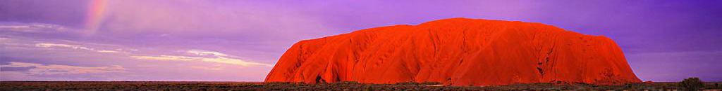 Ayers Rock rainbow