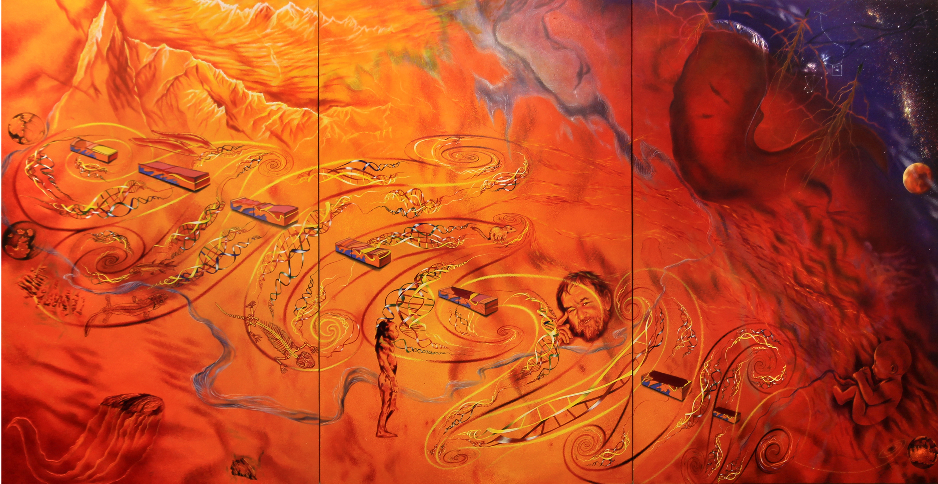 Unearthing Uluru painting for interactive